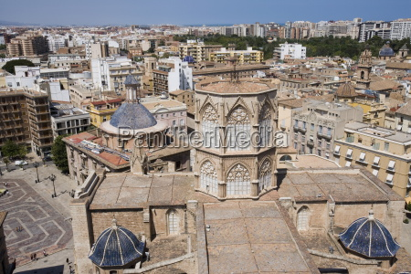view from el miguelet tower basilica