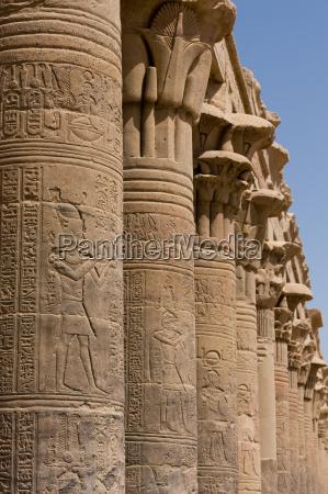spalten in der alten aegyptischen tempel