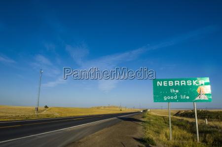 route 2 durch nebraska vereinigte staaten