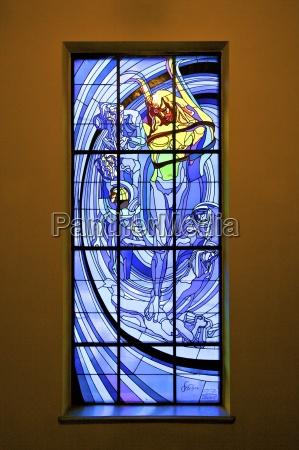 das sonnensystem ein buntglasfenster von stanislaw