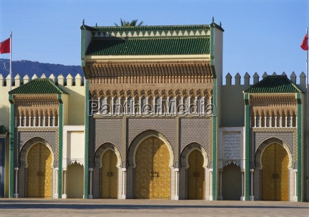 royal palace in fes morocco front