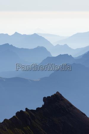 mountain silhouette at dawn jungfrau aletsch