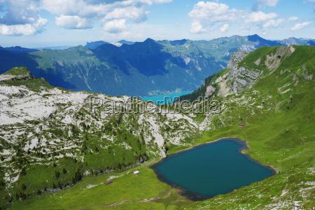 mountain lake above lake interlaken jungfrau
