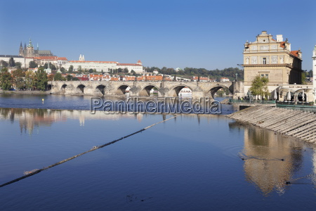 view over the river vltava to
