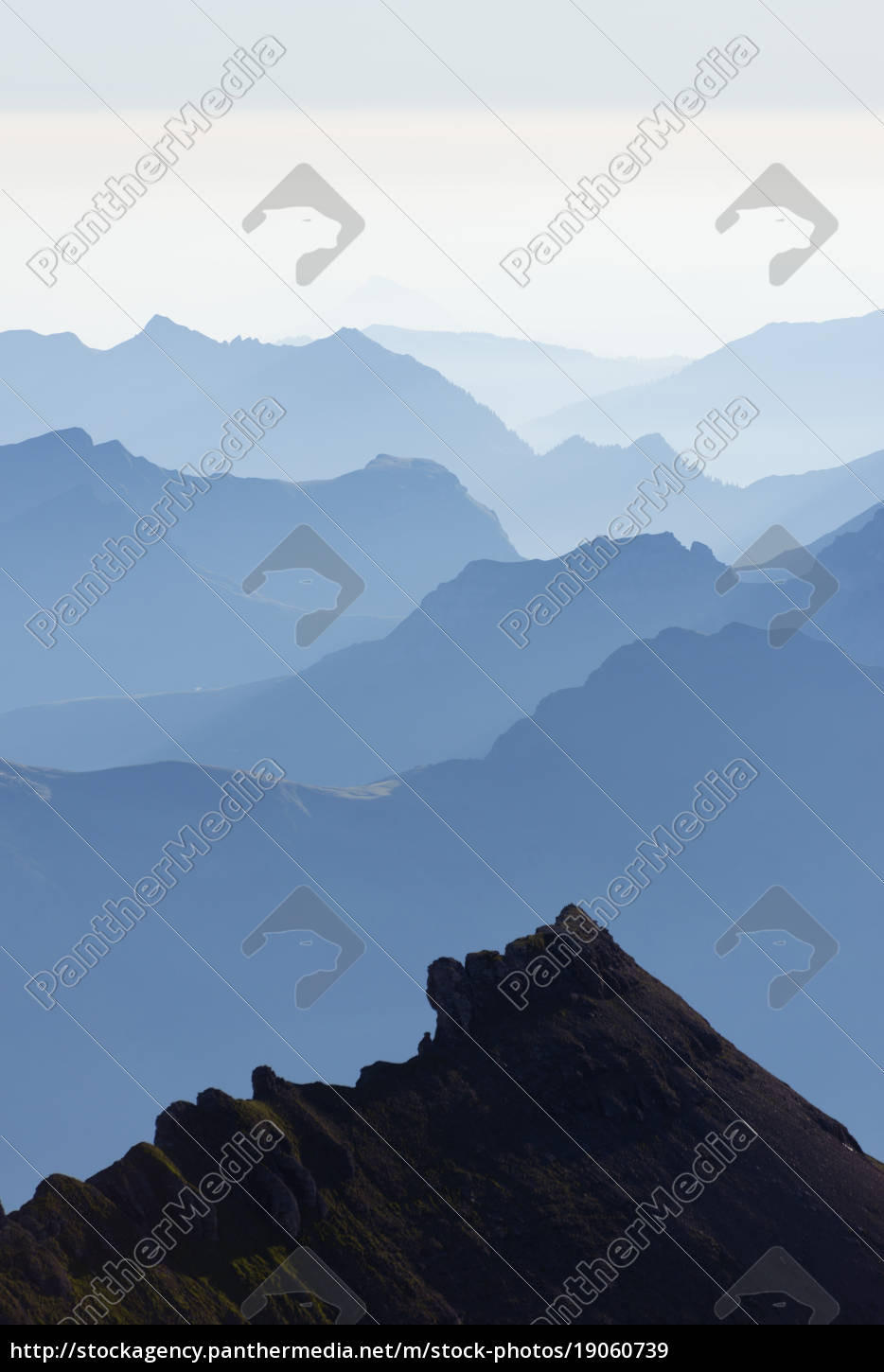 mountain, silhouette, at, dawn, , jungfrau-aletsch, , unesco - 19060739