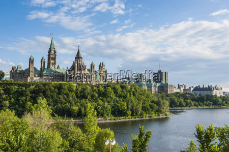 view over ottawa with its parliament