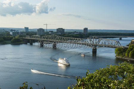 view over the ottawa river and