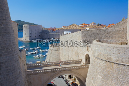 harbour and old town walls unesco