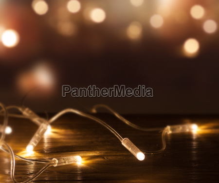 string of lights in front of