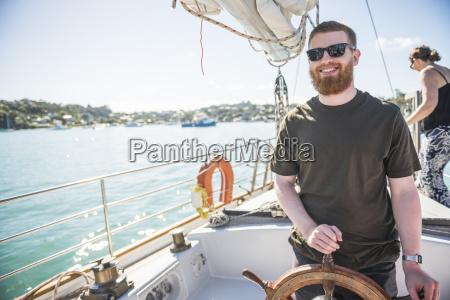tourist on a sailing boat trip