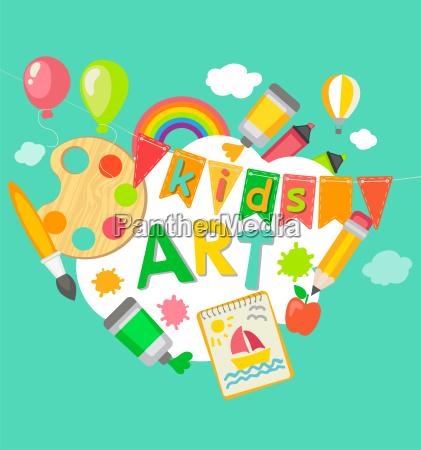 themed kids art poster