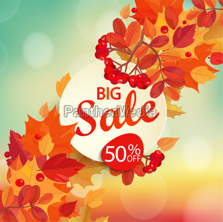 big sale autumn background