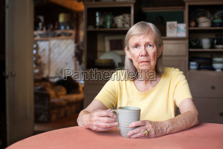 senior woman with depressed expression