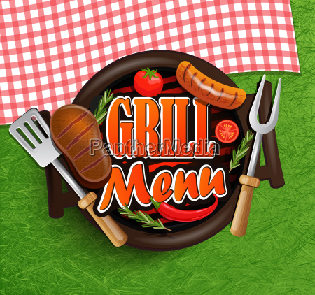 bbq grill menue