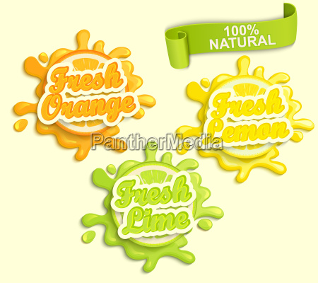 set of lemon orange lime juece