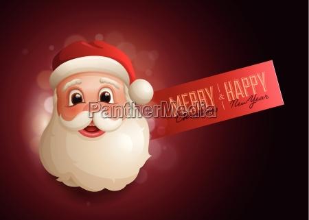 christmas advert design template with santa