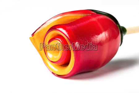 christmas candy on white background