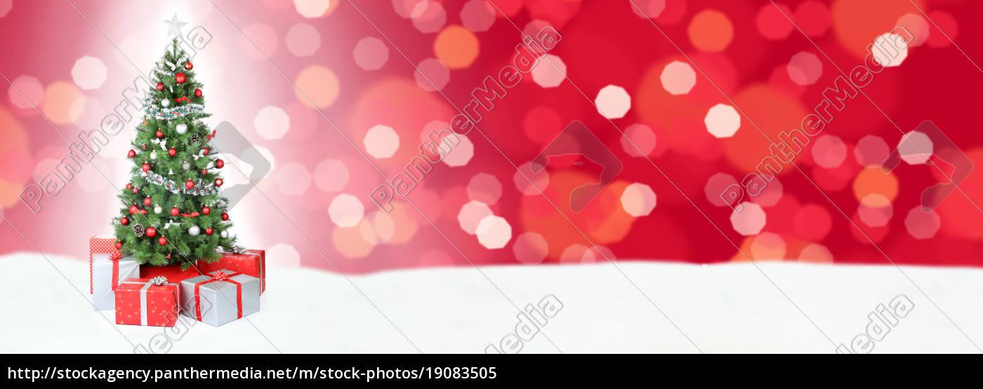Weihnachtsbaum Weihnachten Banner Dekoration Schnee - Lizenzfreies ...