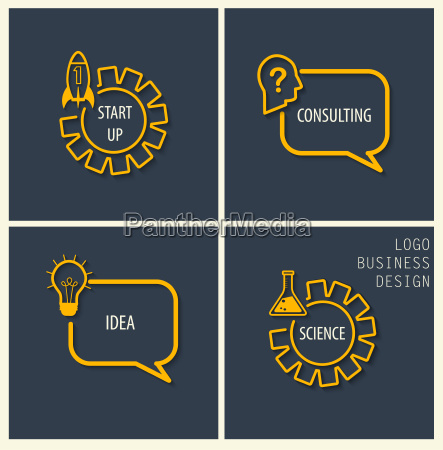 start up consulting idea science symbols