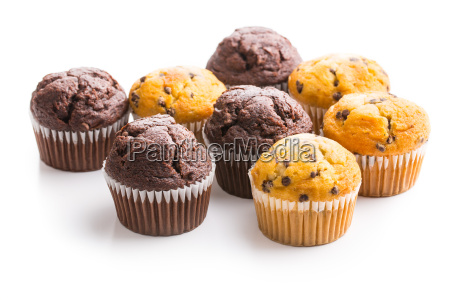 the tasty muffins with chocolate