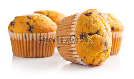 die leckere muffins mit schokolade