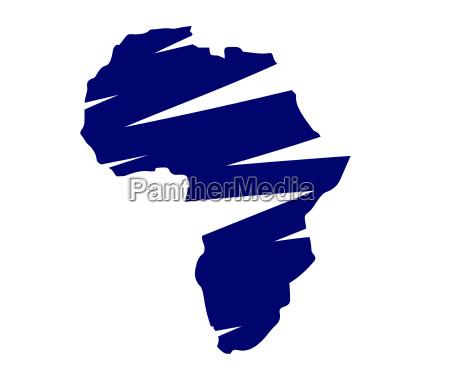illustration von afrika karte
