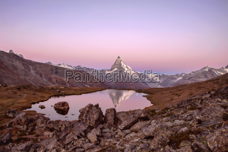 pink sky at sunrise on the