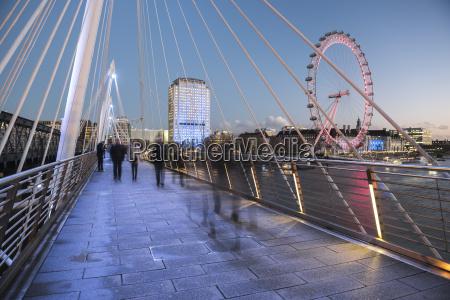 the london eye seen from golden