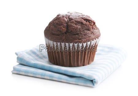 the tasty chocolate muffin