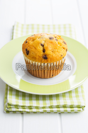 the tasty muffin with chocolate