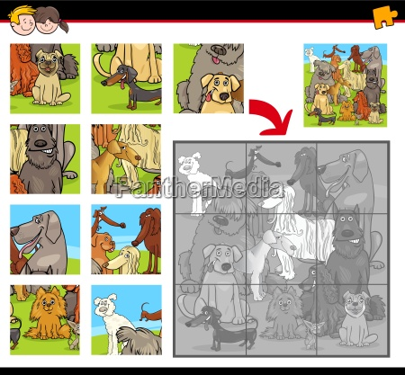 jigsaw puzzle game with dogs