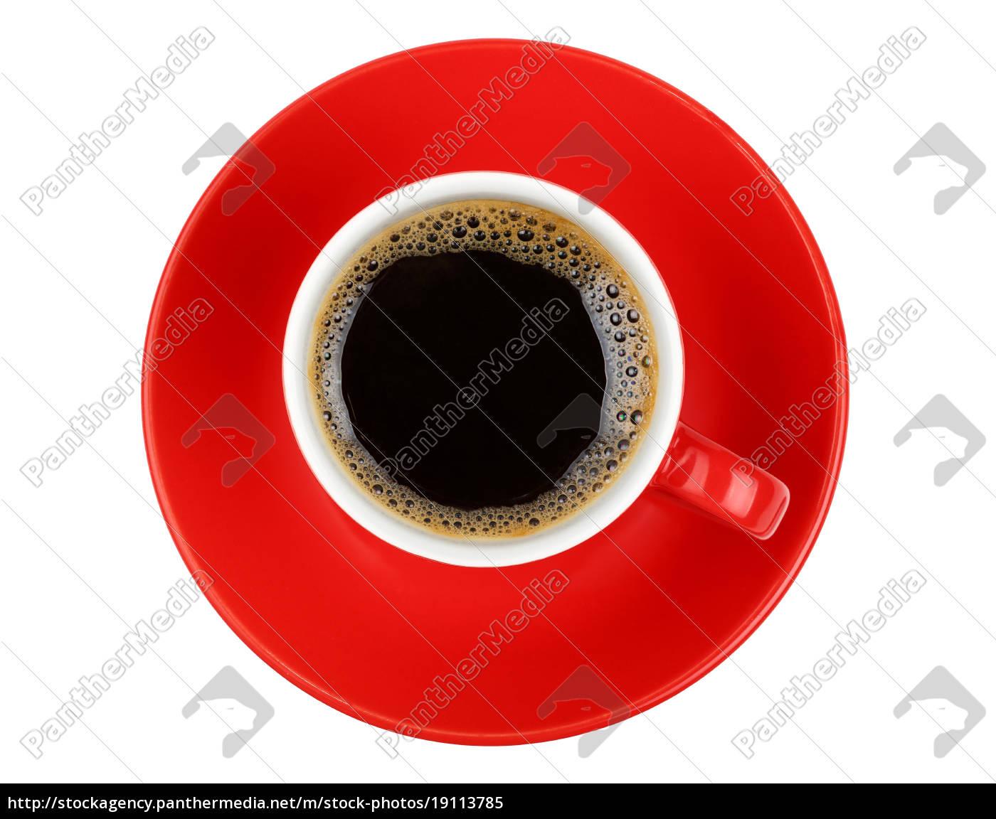 americano, kaffee, in, rot, tasse, isoliert - 19113785