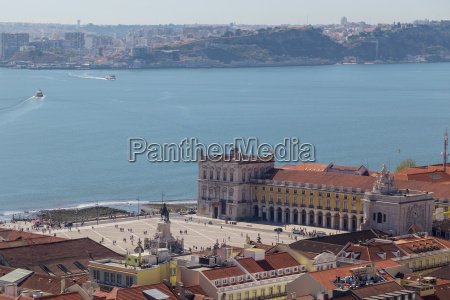 view on travel lisbon from castle