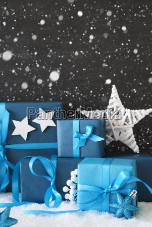 azul vertical regalos de navidad pared