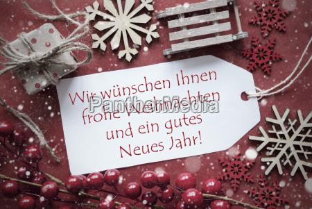 nostalgic decoration label with weihnachten jahr