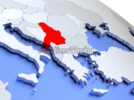 serbien auf weltkarte