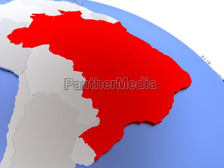 brazil on world map