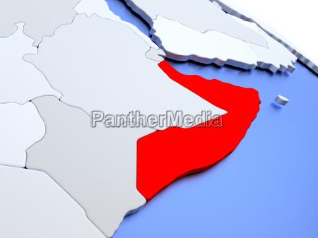 somalia auf weltkarte
