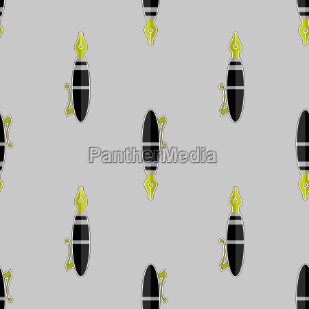 brunnen pen seamless pattern office tool