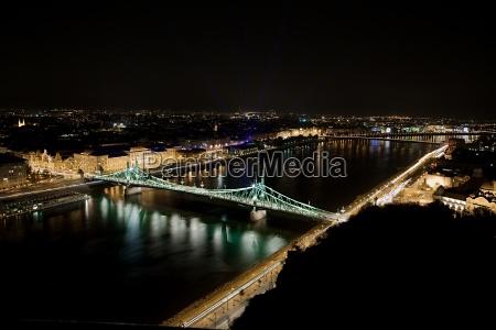 budapest urban night view