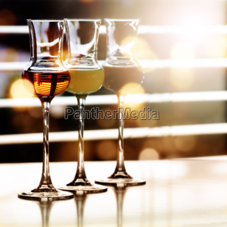 alcoholic drinks in front of a
