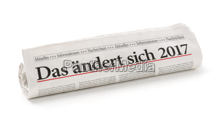 newspaper roll titled thats changing in