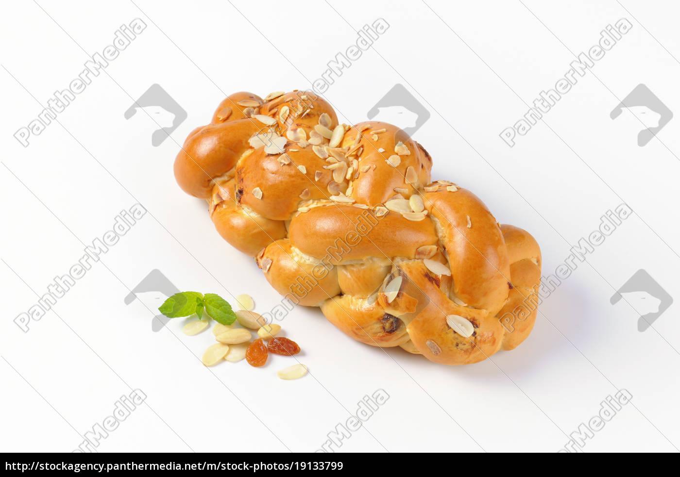 süßes, geflochtenes, brot - 19133799