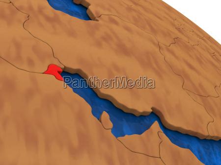 kuwait auf holz globus