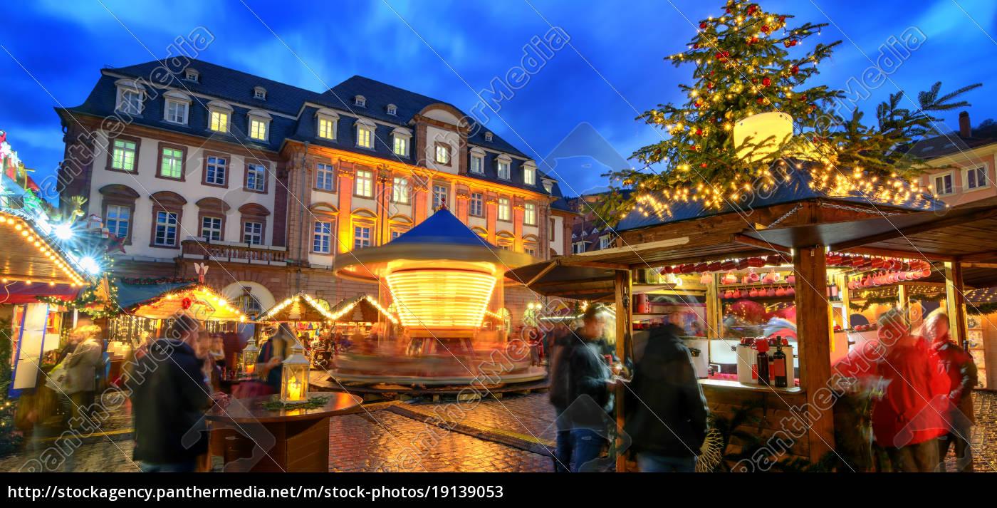 Heidelberg Weihnachtsmarkt.Lizenzfreies Bild 19139053 Weihnachtsmarkt In Heidelberg Bei Dämmerung Logos Und Texte
