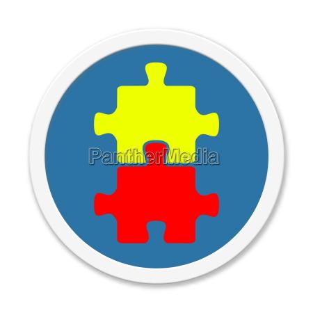 blue round button puzzle