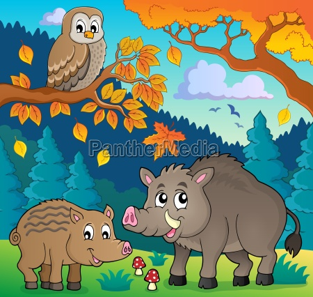 forest wildlife theme image 5