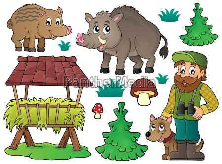 forester and wildlife theme set 1