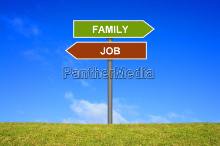 sign directional sign job or family