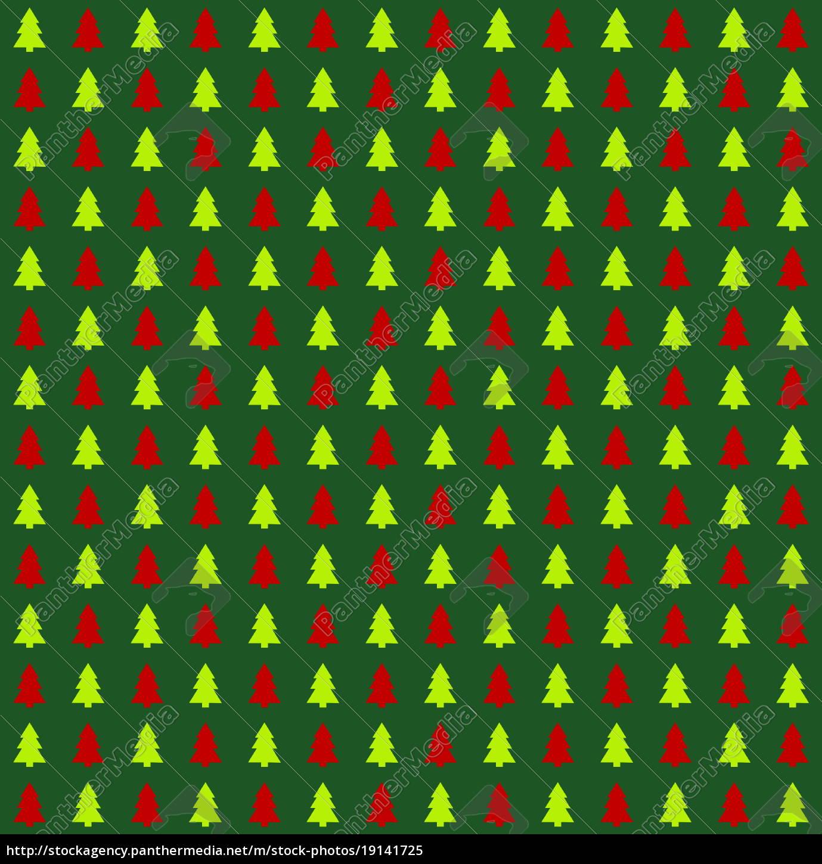 Tannenbaum Muster.Stockfoto 19141725 Nahtloses Tannenbaummuster Grün Hellgrün Rot
